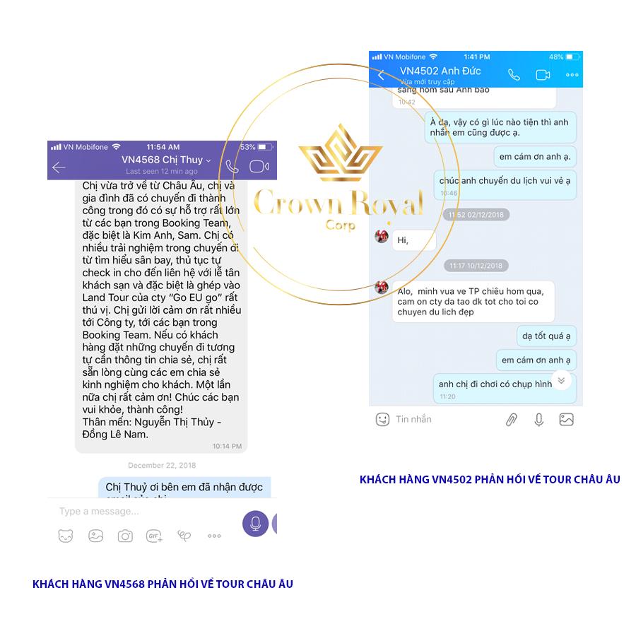 Review về Crown Royal Corp của khách hàng